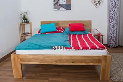Youth Bed Wooden Nature 87, solid wild oak, oiled - 140 x 200 cm
