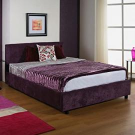 "Hf4you Ruby Upholstered Bedstead - 6ft Super King - Wholemeal Finish - 9"" Orthopaedic Mattress"