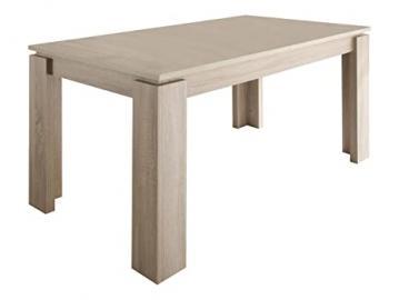 Furnline Rough Cut Extendable Dining Table, Light Oak