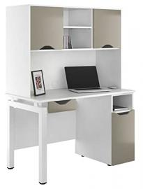 Kit Out My Office UCLIC Bench Desk Drawer and Door Base and 2 Door Upper Storage, Metal, Stone Grey, 1200 mm