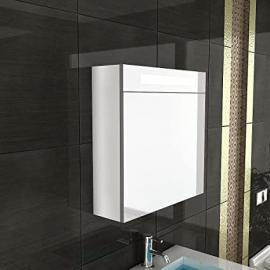 For Bathroom / Bathroom Mirror with Lighting / S-60 / White / with Soft-Close Function bathroom range
