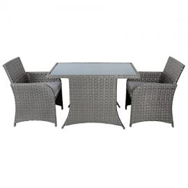 Aruba Rattan Wicker Balcony Bistro 2-Seat Garden Furniture Table & Chairs Set