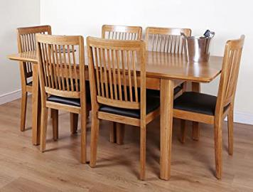 Mayfield Oak Extending Dining Table and 6 Chairs