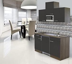 respekta Fitted Kitchen Kitchenette 150 CM Grey Oak Imitation CERAN
