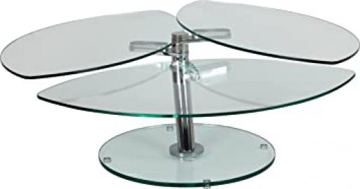 Petal Style Glass Coffee Table