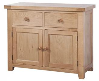 Devonshire Oak 2 Door 2 Drawer Sideboard Solid Oak Fully Assembled