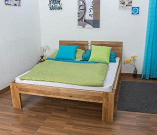 Youth Bed Wooden Nature 88, solid wild oak, oiled - 140 x 200 cm