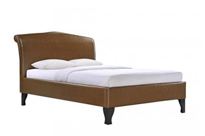 Birlea Andorra 4ft6 Double Bonded Leather Bed, Tan