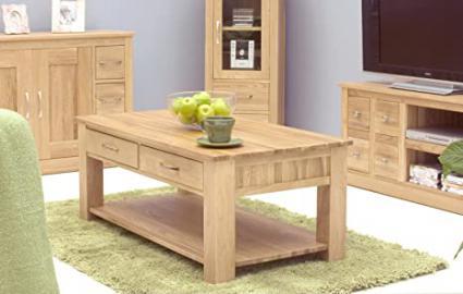 Oakworld North Bay Oak Four Drawer Coffee Table