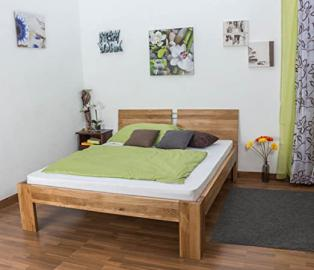 Youth Bed Wooden Nature 89, solid wild oak, oiled - 140 x 200 cm