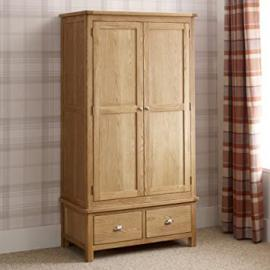 Kent Oak 2 Door 2 Drawer Double Wardrobe