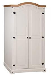 Mercers Furniture Corona Painted 2-Door Arch Top Wardrobe - Cream / Pine
