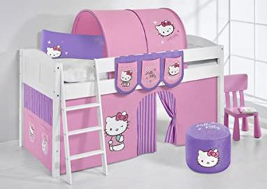 Lilo Kids IDA4106KW Hello Kitty Hello Kitty Large Children's Bed Wood–Purple, 55x 98x 113cm