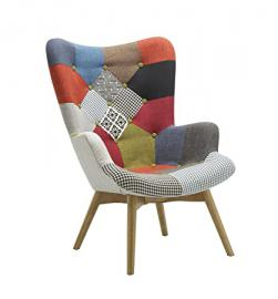 Birlea Patched Sloane Chair, Fabric, Multi-Colour
