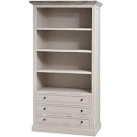 WARM GREY LARGE THREE DRAWER BOOKCASE STORAGE UNIT WITH SHELVING OFFICE FIELDING (H16251) ** FULL RANGE OF MATCHING FURNITURE IS AVAILABLE **