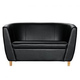 Furniture Collection Preston 2-Sitzer-Sofa schwarz