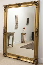 Extra Large Gold Classic Detailed Bevelled Mirror