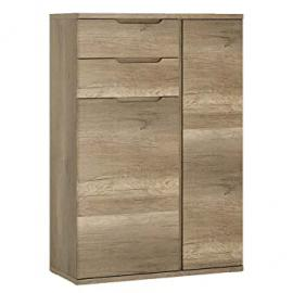 Furniture To Go Contra 2-Door 2-Drawer Cabinet with Melamine, 84 x 124 x 40 cm, Oak