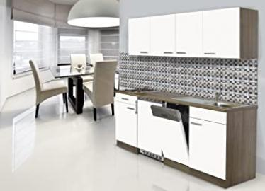 respekta Fitted Kitchen Kitchenette York 195 CM Oak Look White Ceramic