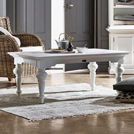 Nova Solo Rectangular Coffee Table, Mahogany, White