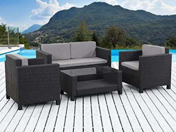 Outdoor Garden Furniture in Woven Wicker - Ottawa - Atlanta - Black