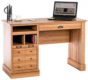DSK Scribed Oak Home Office Desk