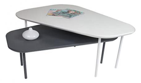HL Design 01-03-135.1Matte Wood Coffee Table Set in White Matte 105,0x 80.0x 37.0cm