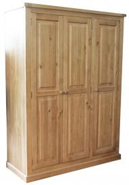 Leyburn Solid Pine 3 Door Wardrobe