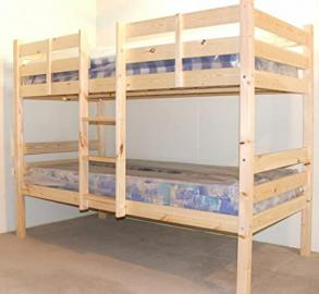 Bunkbed with TWO MEMORY FOAM Mattresses - 3ft Single Bunk Bed - VERY STRONG BUNK! - Heavy Duty Use