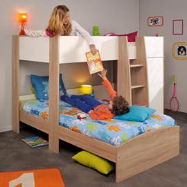 parisot magellan l shaped kids bunk bed