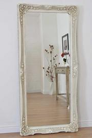 5Ft8 X 2Ft8 173cm X 82cm Large Ivory Antique Design Very Ornate Big Wall Mirror