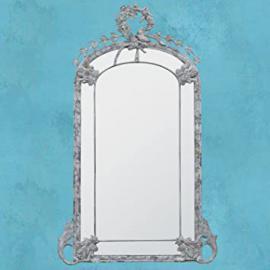 DUSX Floor Standing Mirror, Metal, Large, Grey, 231.5 x 8 x 142 cm