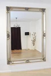 Extra Large Silver Elegant Detailed Bevelled Mirror
