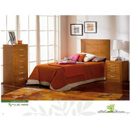 Headboard + 1 Table + Sinfonier in Wood Cherry Colour r-kyn