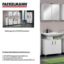 Fackelmann ATLANTA 3-Piece Bathroom Furniture Set Washbasin / Sink / Spiegel