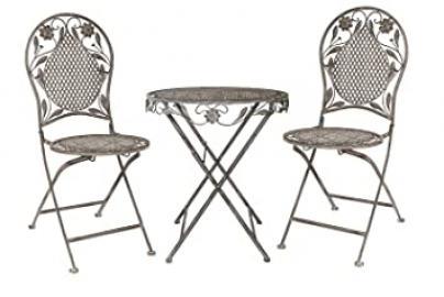 Set gartenset iron garden furniture garden gray antique-style garden furniture