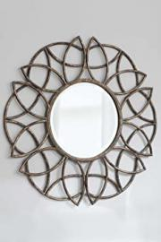 Large Round Stylish Bronze Finish Wall Mirror 3ft (90.5cm)
