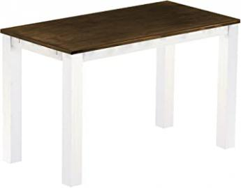 Brasil High Table Furniture 'Rio' 177 x 90 cm, Solid Pine Wood Twist, antique oak/White
