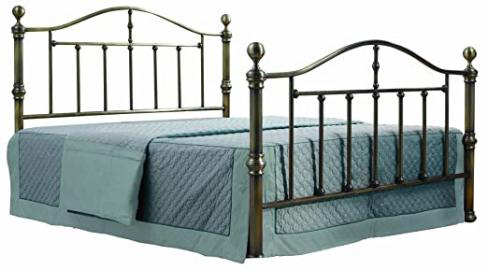Birlea Victoria 5ft Kingsize Metal Bed, Antique Brass