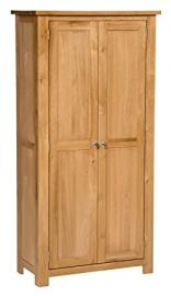 Waverly Oak 2 Door Large Storage Cabinet with Adjustable Shelves in Light Oak | Wooden Storage