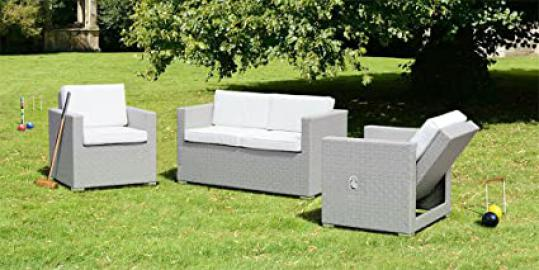 My Furniture - Cubo Grey Lounge Set