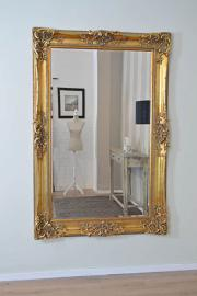 Extra Large Gold Highly Ornate Full Length Bevelled Mirror