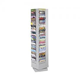 Safco Steel Display with 92 A4 Rotating Pocket - Grey