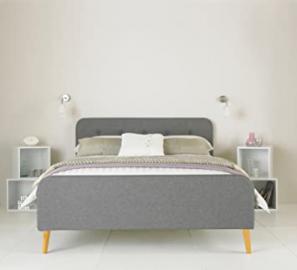 Rene Fabric Upholstered Bed Frame - Grey 5ft
