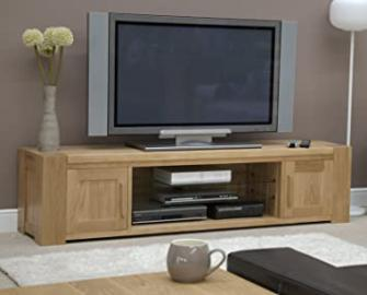 Pemberton Solid Oak Furniture Large Widescreen Television Cabinet Stand Unit