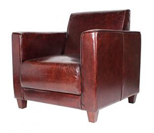 The Vintage - Real Leather Design Armchair Lounge Clubchair Sofa