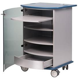 "Metroplan ""Mitre"" Multi-Media Cabinet - Aqua"