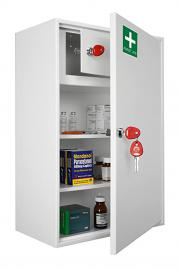 Medical Cabinet - First Aid Storage Key Locking Safe (Large)