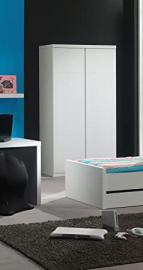 Bunk lakl1214Lara Cabinet with 2Doors White MDF 110x 57x 204.5cm