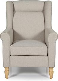 Serene Glasgow Traditional Occasional Armchair Upholstered Luxury Fabric | Latte
